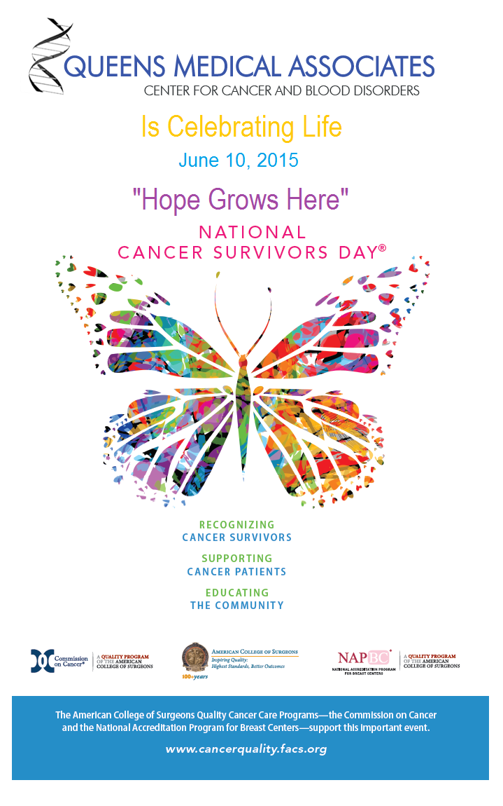 National Cancer Survivors Day - Hope Grows Here! - Queens Medical ...