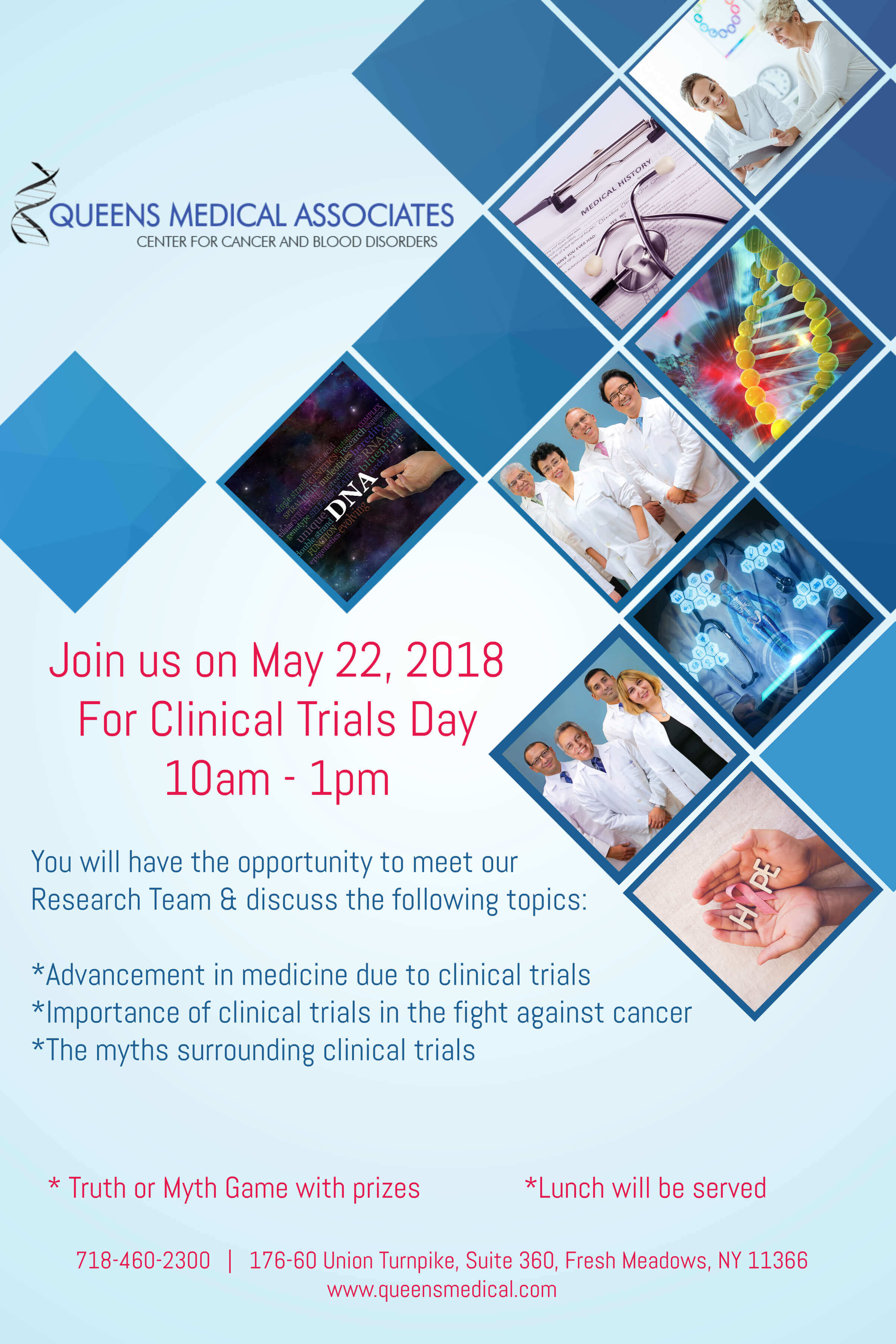 Clinical trials day may 22 2018 queens medical associates clinical trials day may 22 2018 malvernweather Gallery